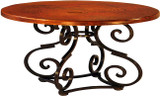 hand crafted copper table