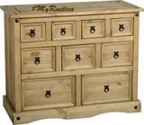 mexican ten drawer sideboard