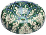 green white mexican vessel sink