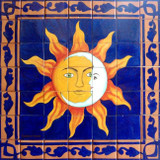 eclipse wall tile mural