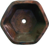 copper bar sink old European