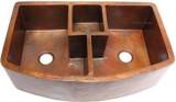 custom copper apron copper kitchen sink