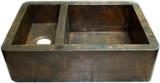 Mexican apron copper kitchen sink