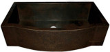 handcrafted apron copper kitchen sink