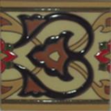 italian relief tile black