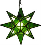 green stained glass star lamp