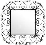 square iron mirror frame
