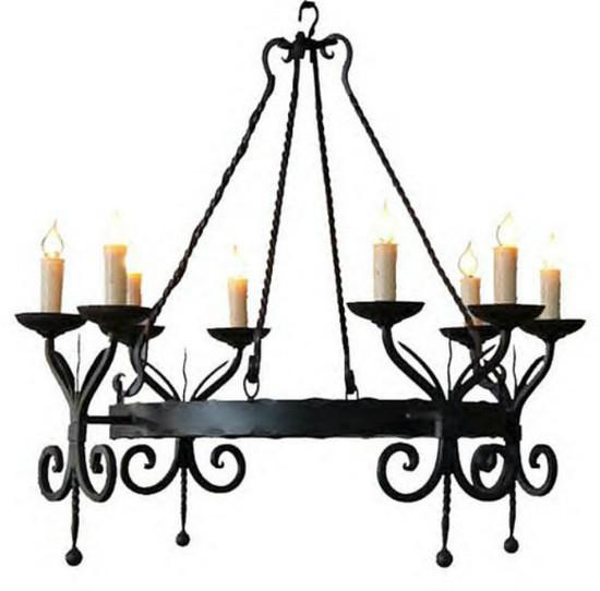ceiling iron chandelier