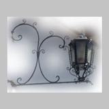 traditional outdoor iron lantern