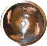 round made to order copper bath sink
