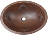 oval artisan made copper bath sink
