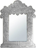 punched tin mirror