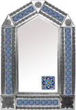 tin mirror with handcrafted tiles