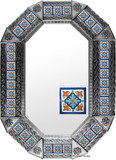 metal tin mirror tile handcrafted