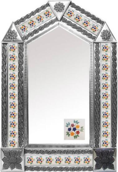 Tin Tile Mirror Spanish