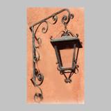 colonial outdoor wall iron lantern