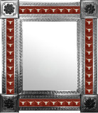 mexican mirror with southwestern tiles
