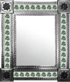 mexican wall mirror with hacienda tiles