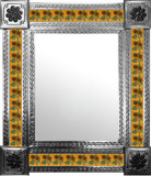 mexican mirror with conventional tiles
