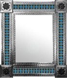 mexican mirror with classic colonial tiles