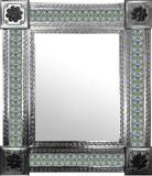 mexican mirror with colonial hacienda tiles