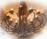 rusted iron chandelier