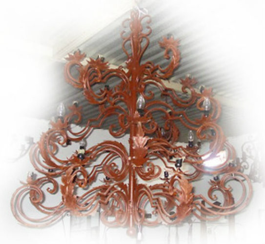 old european iron chandelier