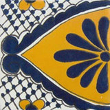 mexican stair rise tile white yellow blue