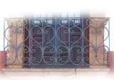 artisan made forged iron balcony
