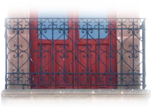 hammered forged iron balcony