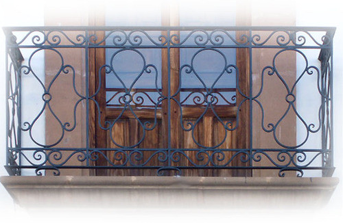 crafted forged iron balcony