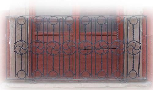 hand made forged iron balcony