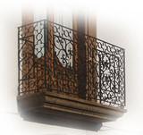 style forged iron balcony
