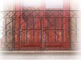 Southwestern forged iron balcony