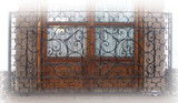 hand crafted forged iron balcony