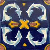 traditional Mexican tile white yellow