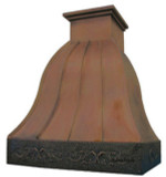 decorative kitchen hood copper