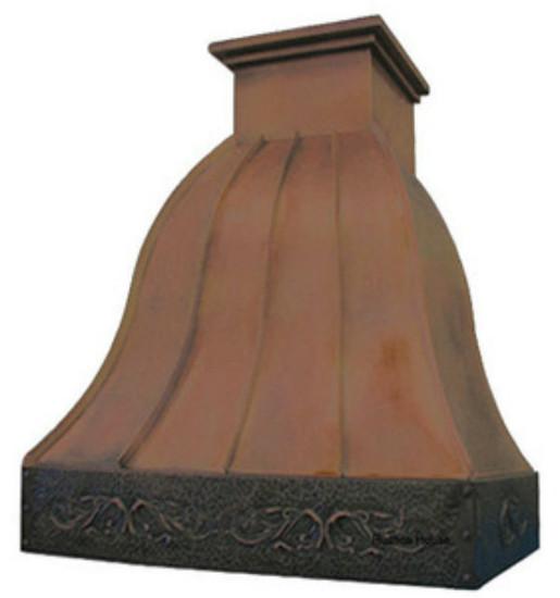 decorative kitchen hood copper