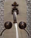 rustic bath wall bronze faucet