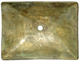 rectangular bronze bath sink