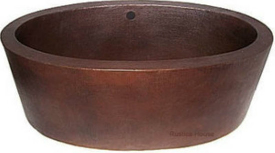 double wall oval copper tub