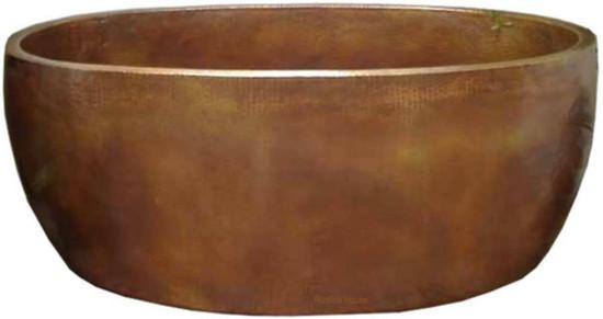 double wall copper bathtub