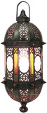 moroccan punched tin chandelier