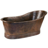 rustic copper bathtub