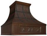 decorative range hood copper