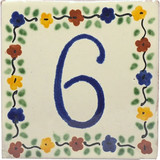 tile plaque number 6