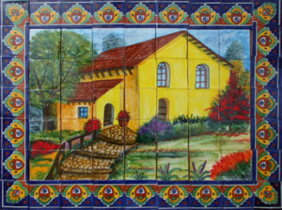 Tile Mural The Yellow House