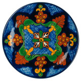 south east talavera plate brown green