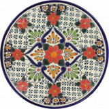 spanish talavera plate red green