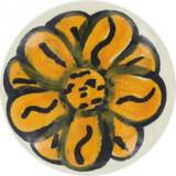 yellow white ceramic pull knob